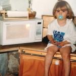 Maddie & micrwave 1991.